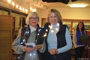 Die Lichterfest-Organisatorinnen: Ursula Goldschmidt-Karcisky und Loretta Lorenz.