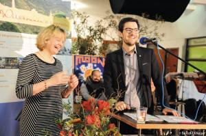 Ein gelungener Auftakt für 2019: Loretta Lorenz mit Oberbürgermeister Martin Horn am Neujahrsempfang des Bürgervereins.