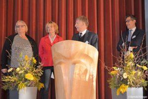 Das neue Vorstandsteam des Bürgernvereins: Monika Lang-Dahlke, Loretta Lorenz, Klaus Füsslin, Justus Kampp