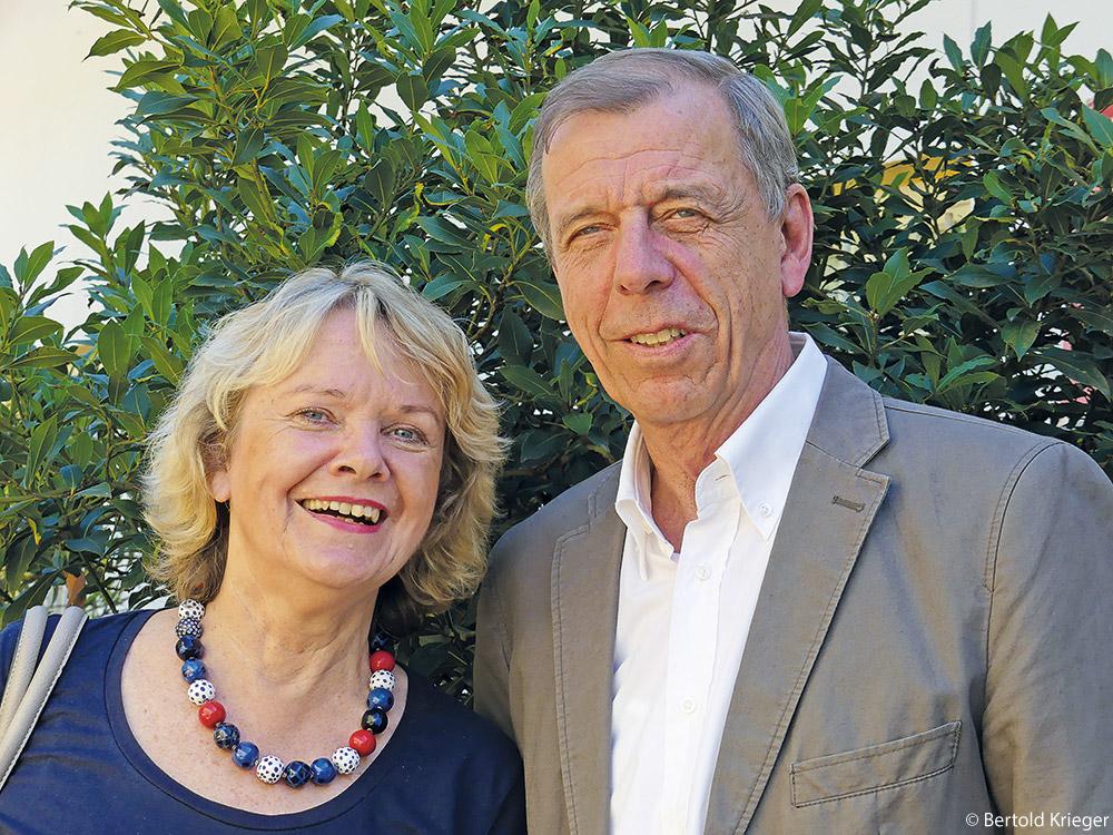 Das Orga-Team des Wiehre-Journals: Loretta Lorenz und Jürgen Bolder.